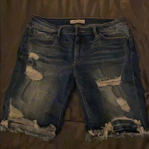 KanCan signature distressed jean shorts